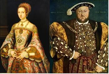 Портрети на Катрин Пар и Хенри VІІІ