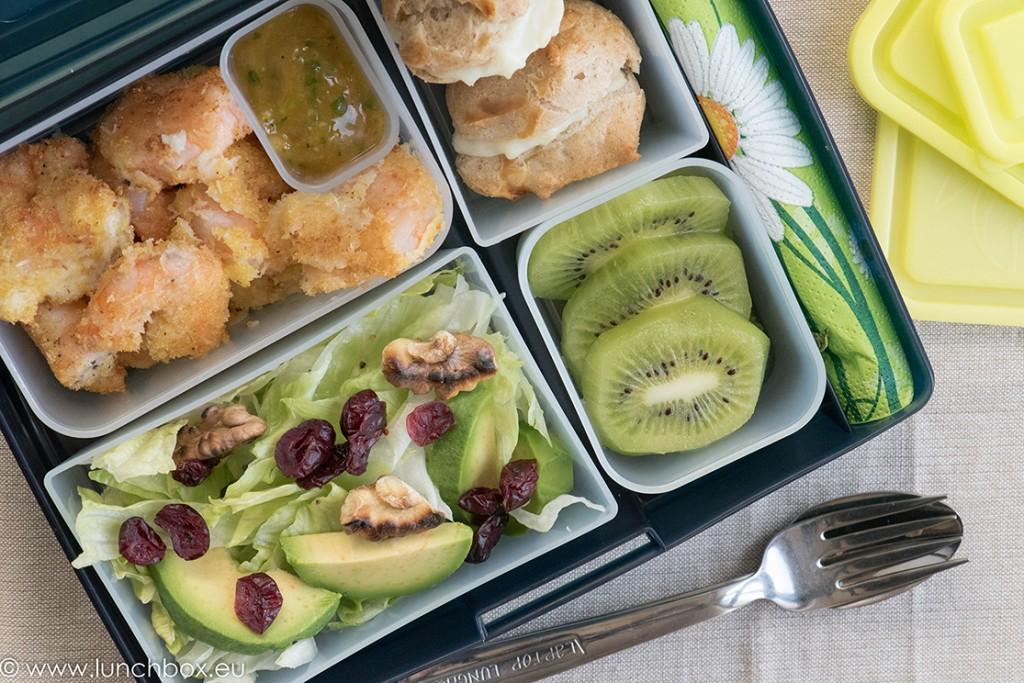 Lunchbox menu: Скариди в манго сос