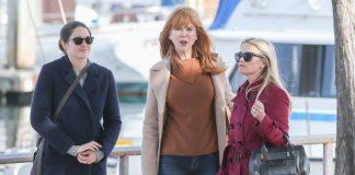 """Рийз Уидърспун, Никол Кидман и Шейлийн Удли на снимачната площадка на """"Големите малки лъжи"""""""