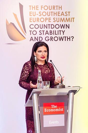 Д-р Ружа Игнатова на събитието Fourth Southeast Europe Summit, организирано от списание The Economist